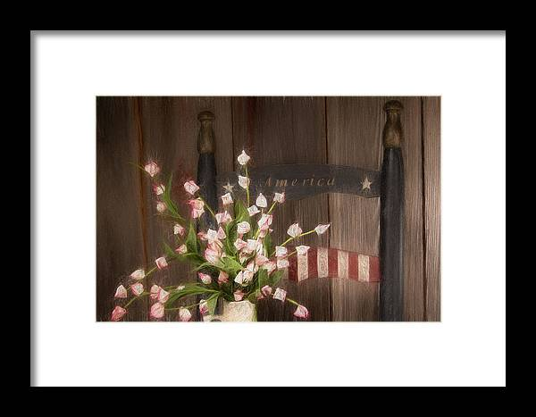 America Framed Print featuring the photograph Patriotic Seating by Tom Mc Nemar