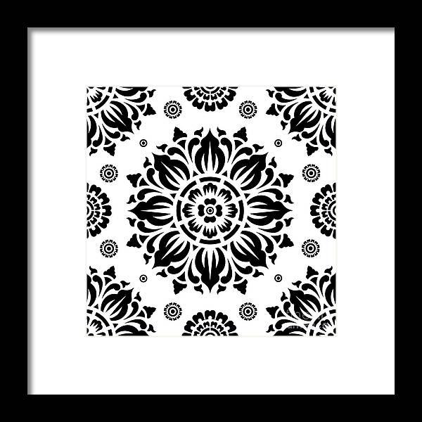 Pattern Art Framed Print featuring the digital art Pattern Art 01-2 by Bobbi Freelance