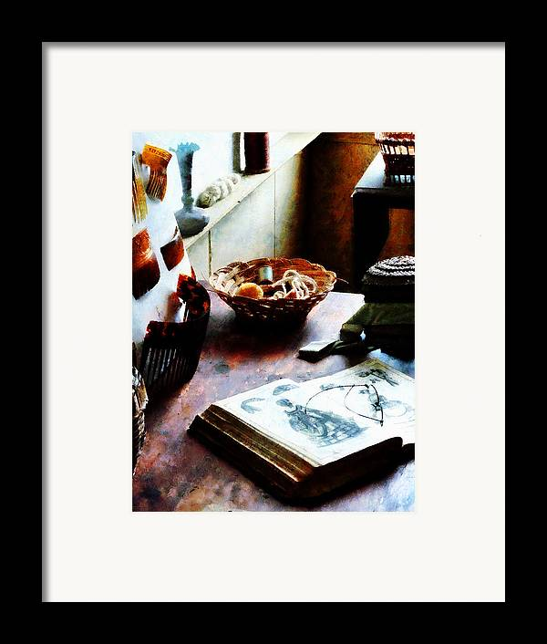 Pattern Framed Print featuring the photograph Pattern Book by Susan Savad