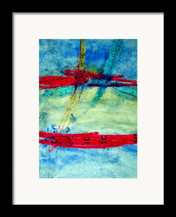 Abstract Framed Print featuring the mixed media Pattern by Kim Putney
