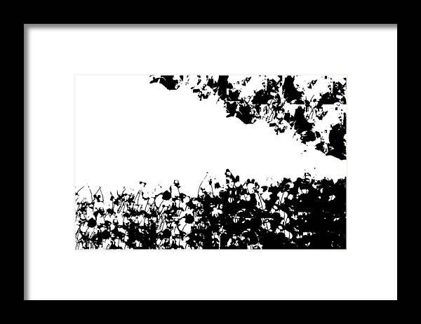 Black White Memories Framed Print featuring the digital art Pattern Of Memories by Gracey Tran