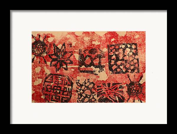 Framed Print featuring the painting Patterns And Surfaces by Biagio Civale