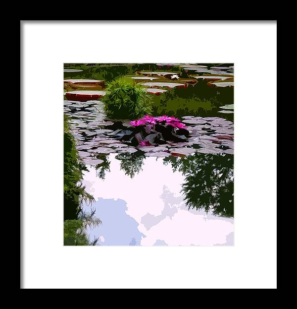 Water Lilies Framed Print featuring the photograph Patterns of Peace by John Lautermilch