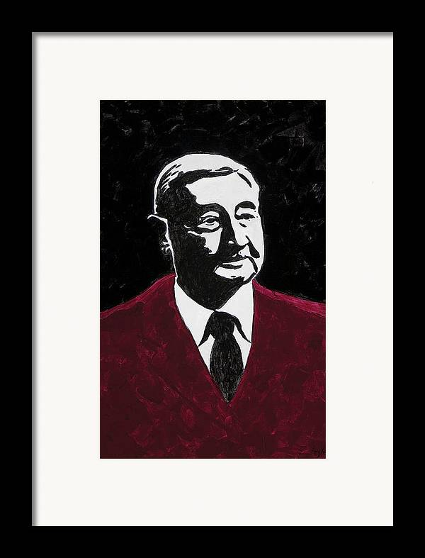 Voice Of The Razorbacks Framed Print featuring the painting Paul Eells by Amy Parker
