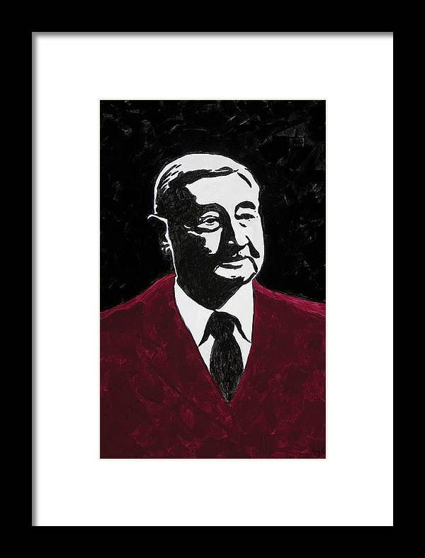 Voice Of The Razorbacks Framed Print featuring the painting Paul Eells by Amy Parker Evans