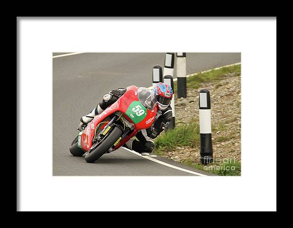 Motorbike Racing Framed Print featuring the photograph Paul Jordan by Richard Norton Church