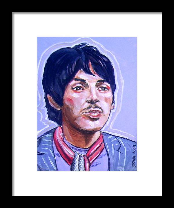 Paul Mccartney Framed Print featuring the painting Paul Mccartney by Bryan Bustard