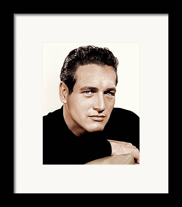 1960s Portraits Framed Print featuring the photograph Paul Newman, Ca. 1963 by Everett