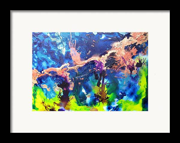 Blue Framed Print featuring the painting Paulette by Jess Thorsen