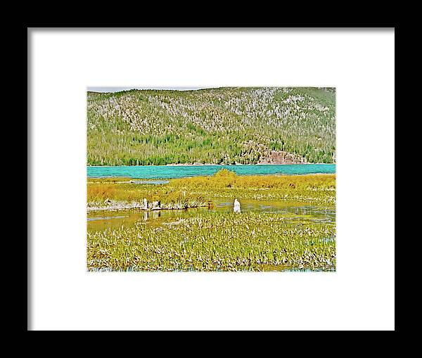 Paulina Lake Formed After Newberry Crater Erupted 1200 Years Ago Framed Print featuring the photograph Paulina Lake Formed After Newberry Crater Erupted 1200 Years Ago In Oregon by Ruth Hager