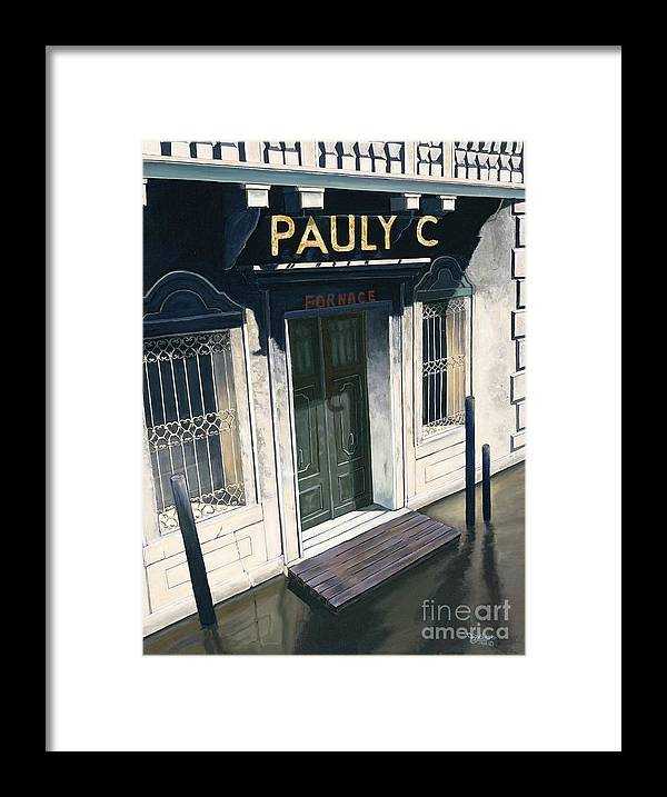 Venius Framed Print featuring the painting Pauly C. Fornache by Jiji Lee