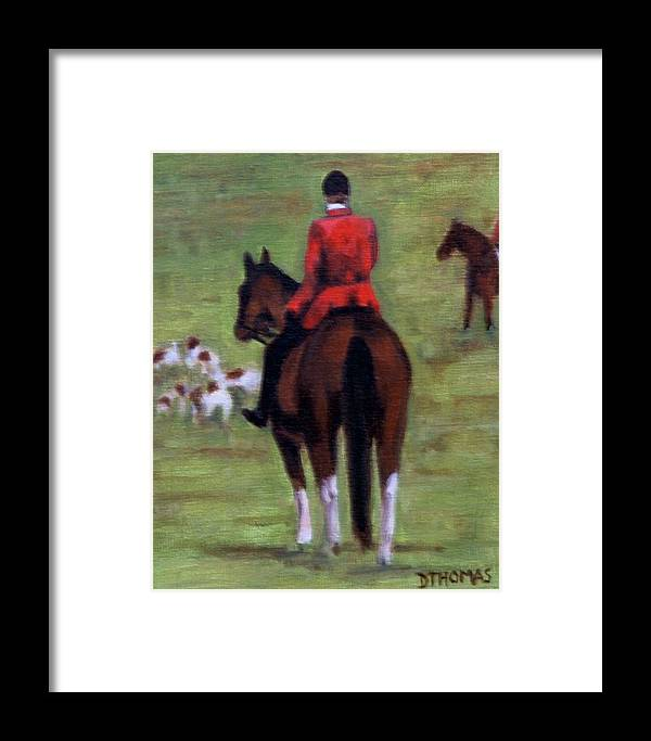 Horse Framed Print featuring the painting Pause by Donna Thomas