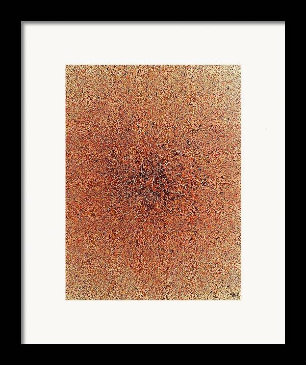 Abstract Framed Print featuring the painting Pax Vobis by Steven Dean
