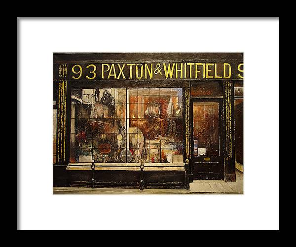 Paxton Framed Print featuring the painting Paxton Whitfield .London by Tomas Castano