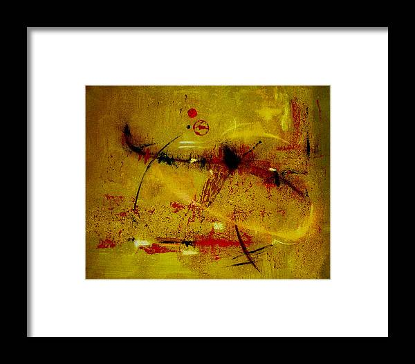 Abstract Framed Print featuring the painting Pay More Careful Attention by Ruth Palmer