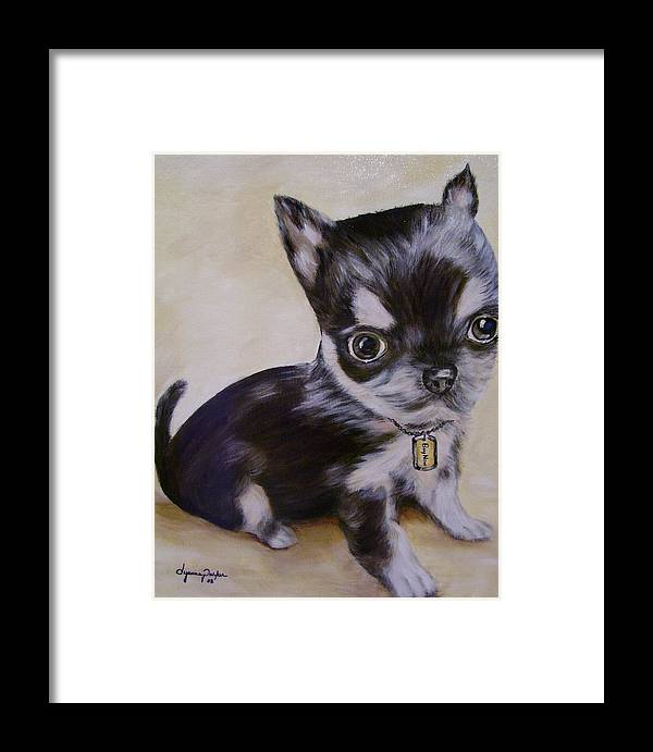 Dog Framed Print featuring the painting Pay Pal by Dyanne Parker
