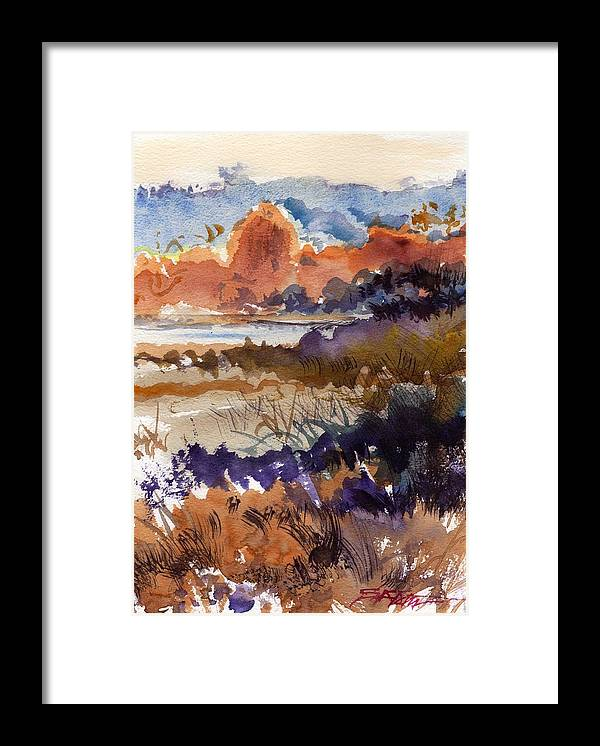 Seascape Framed Print featuring the painting Paysage Cci by Alexandre DUMITRESCU