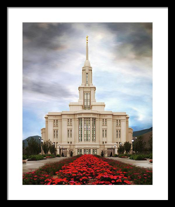 Payson Framed Print featuring the painting Payson Temple #3 by Brent Borup