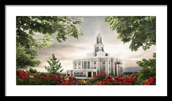 Payson Framed Print featuring the painting Payson Temple by Brent Borup