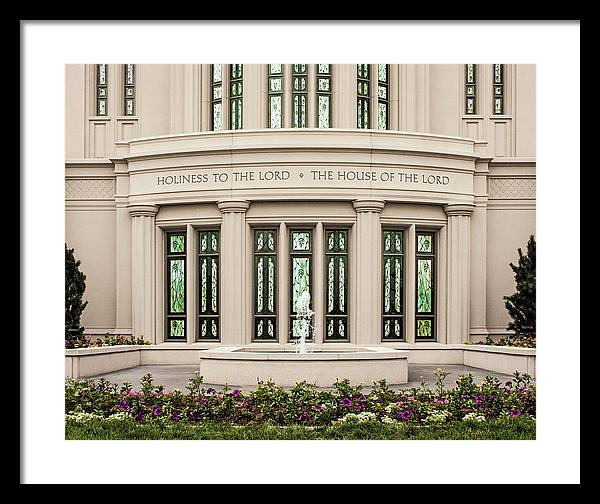 Payson Framed Print featuring the photograph Payson Temple - House of the Lord by Brent Borup