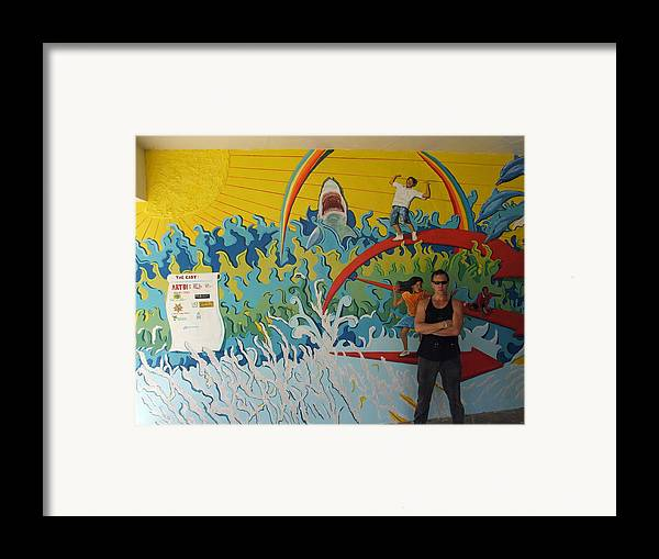 Painting Framed Print featuring the painting Paz Y Unidad by Elio Lopez