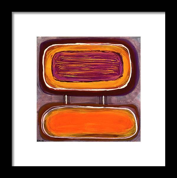 Canvas Print Framed Print featuring the painting Pb And J I by K Batson Art
