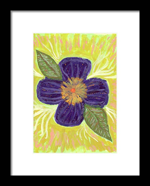 Flower Framed Print featuring the painting Pea In Pod by Laura Lillo