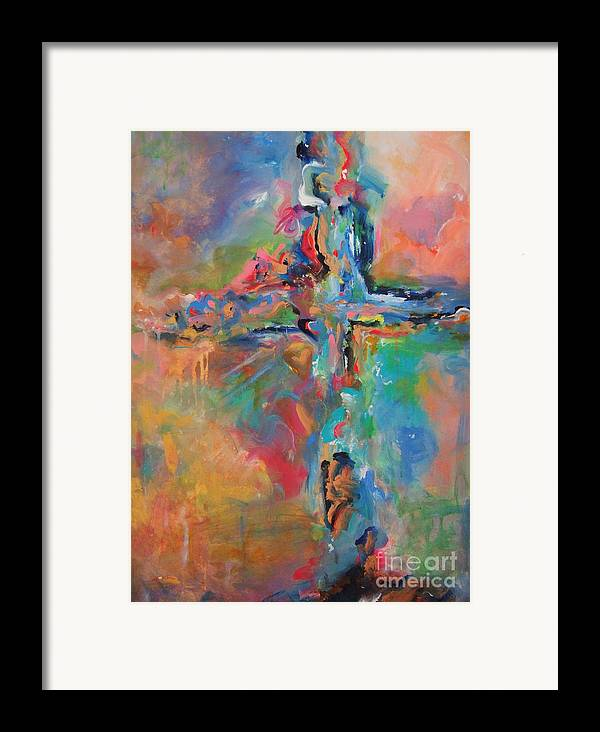 Christian Art Framed Print featuring the painting Peace Accord by Deb Magelssen