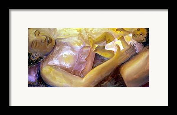 Mother Framed Print featuring the painting Peace by Alima Newton