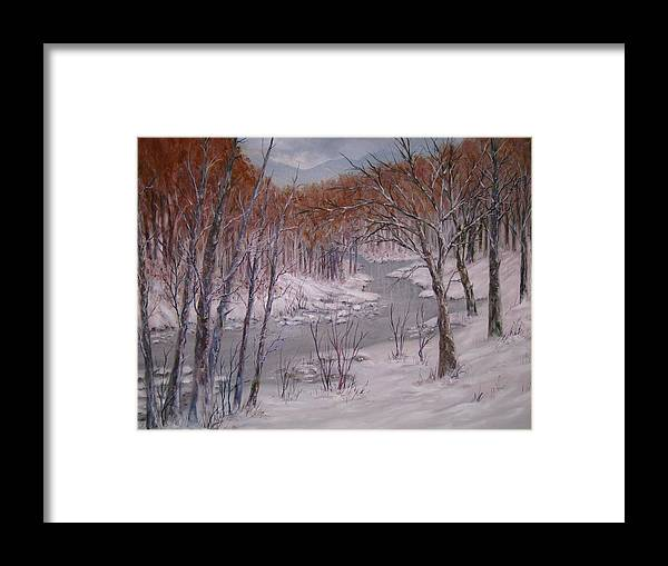 Peace Project Framed Print featuring the painting Peace And Quiet by Ben Kiger