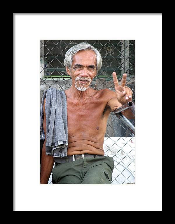 Photographer Framed Print featuring the photograph Peace Man 2 by Jez C Self