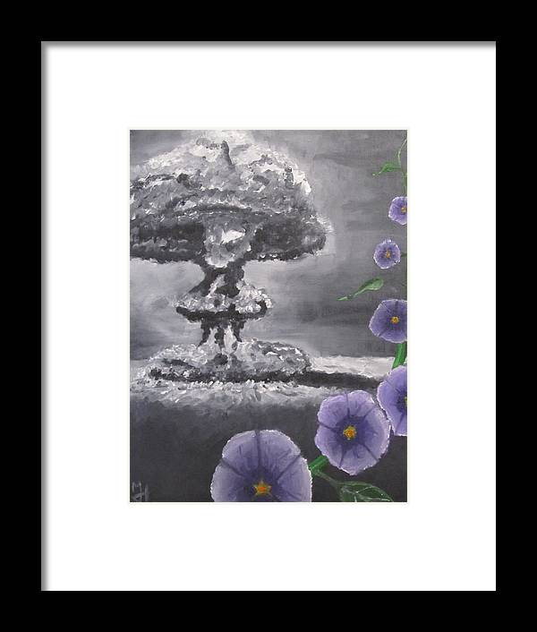 Bomb Framed Print featuring the painting Peace by Michael Holmes