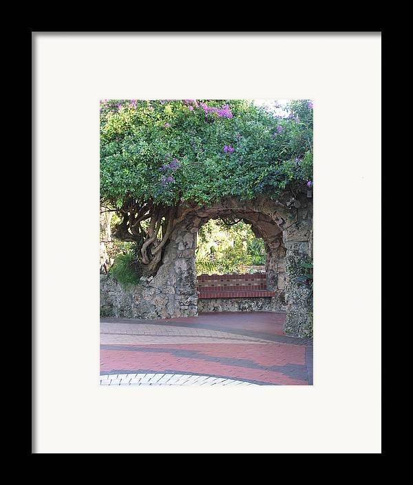 Bench Framed Print featuring the photograph Peace Of Mind by Stephanie Richards