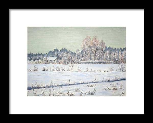 Winter Framed Print featuring the painting Peace Of The Winter by Maren Jeskanen