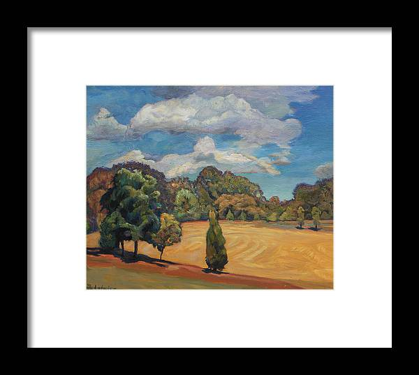 Field Framed Print featuring the painting Peace Peace by Maris Salmins