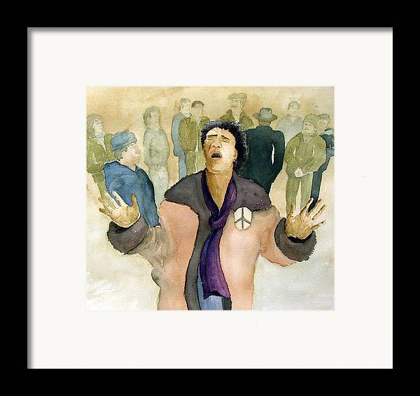 Figure Framed Print featuring the painting Peace Protest by Joe Lanni