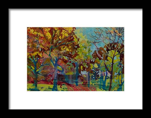 Landscape Framed Print featuring the painting Peace by Slomka Elizabeth