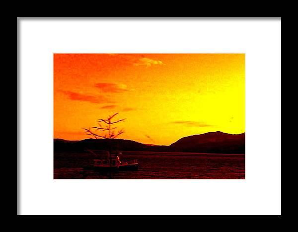 Sky Framed Print featuring the photograph Peaceful by Allison Prior