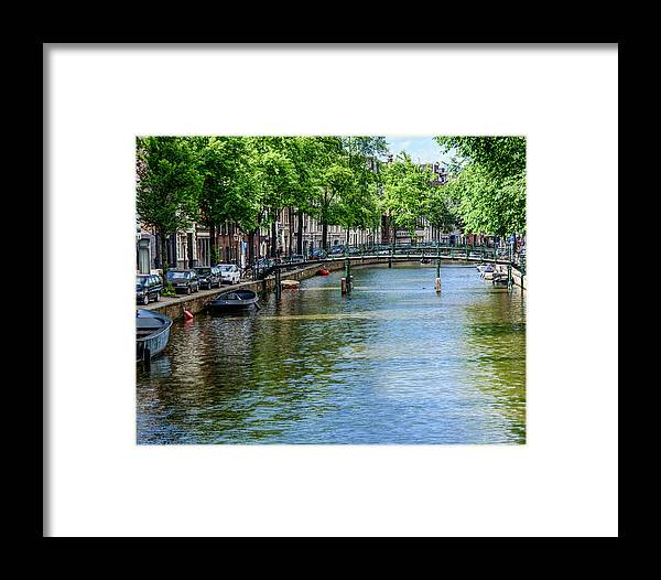 Canal Framed Print featuring the photograph Peaceful Canal by Joan Baker