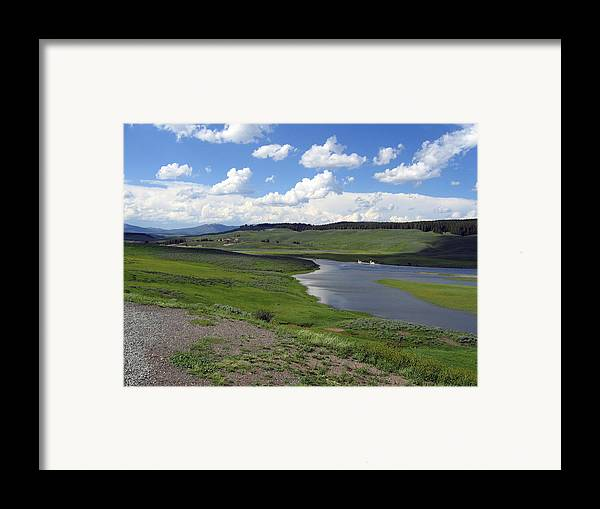 Lake Framed Print featuring the photograph Peaceful Lake At Yellowstone by Diane Wallace