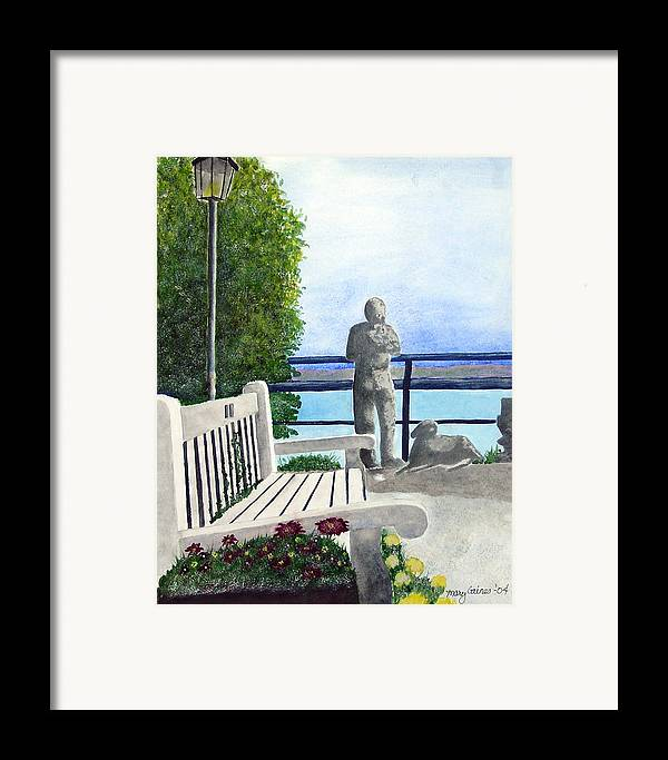 Statues Framed Print featuring the print Peaceful Langley by Mary Gaines