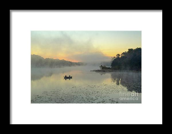 Fishing Framed Print featuring the photograph Peaceful Morning by Charles Norkoli