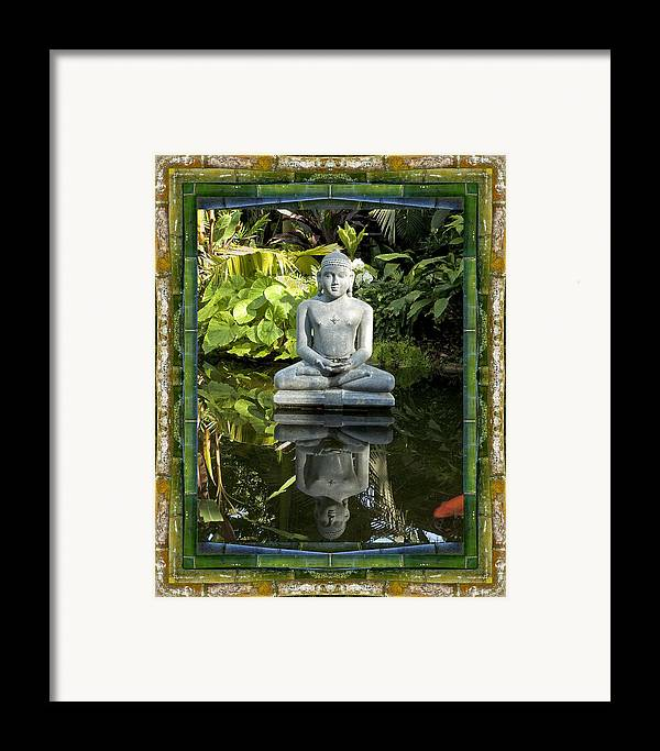 Mandalas Framed Print featuring the photograph Peaceful Reflection by Bell And Todd