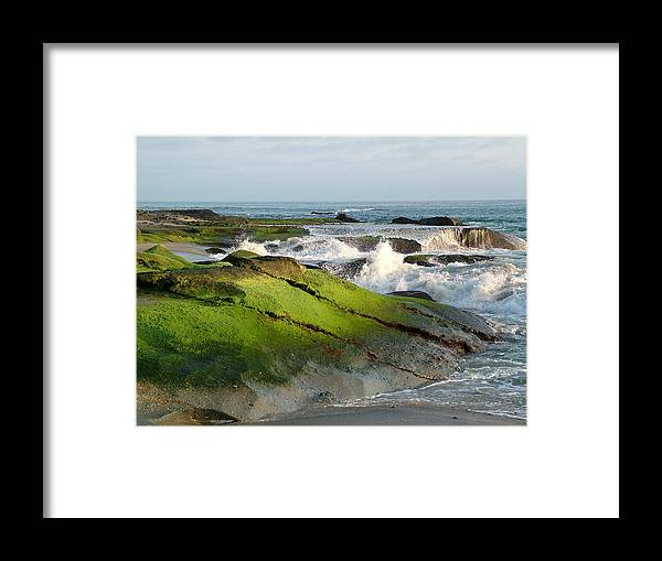 Ocean Framed Print featuring the photograph Peaceful Serenity by John Loyd Rushing