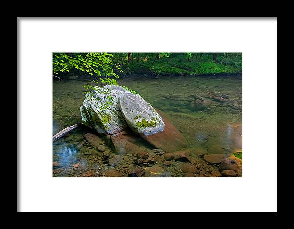Landscape Nature Framed Print featuring the photograph Peaceful Transparency. by Itai Minovitz