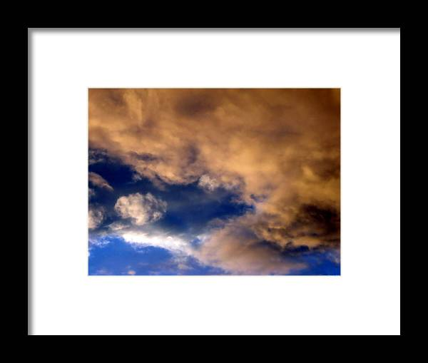 Impressionistic Sky Photograph Framed Print featuring the photograph Peach Sunday by Jane Tripp