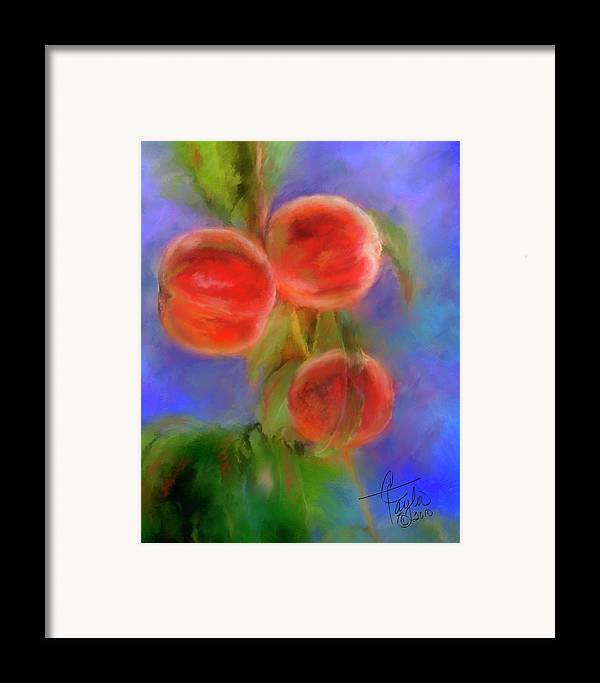 Peaches Framed Print featuring the painting Peachy Keen by Colleen Taylor