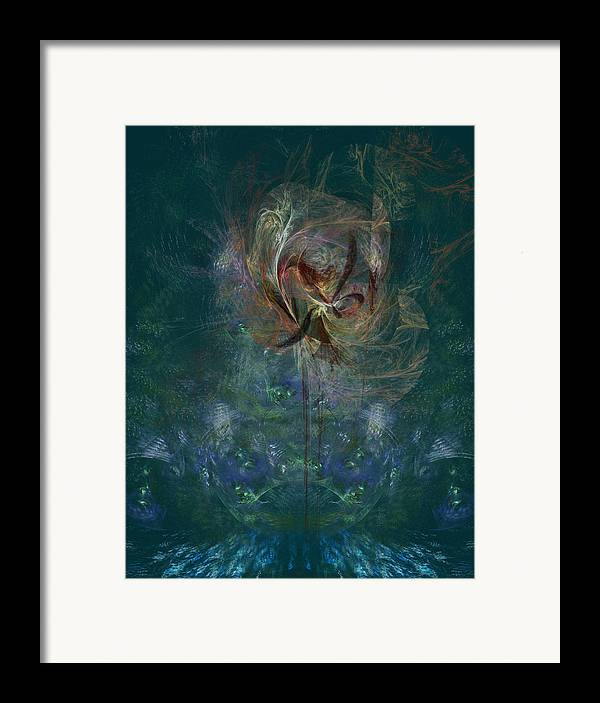 Fractal Framed Print featuring the digital art Peacock Orchid by C G Rhine