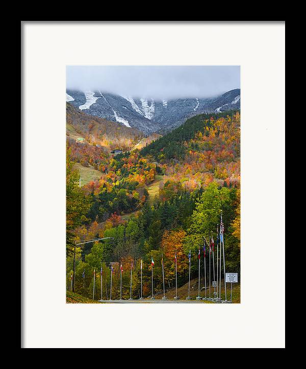 Mountain Framed Print featuring the photograph Peaked by Mark Papke