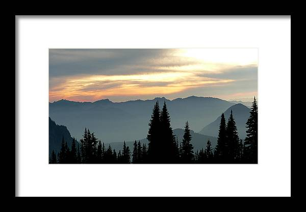 Mountains Framed Print featuring the photograph Peaks And Valley by Larry Keahey